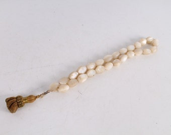 Antique Christianity Orthodox Mother-of-Pearl Rosary Prayer Beads.