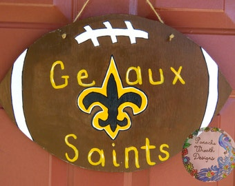Geaux Saints Door Hanger
