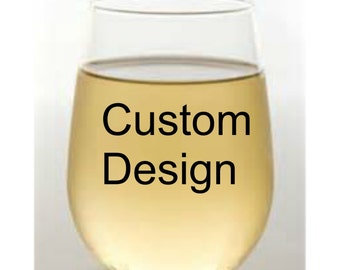 Custom Stemless Wine Glass / Personalized Wine Glass / 15 oz Drinkware