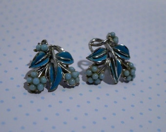 "Vintage Earrings (clip-on) - ""Alice"""