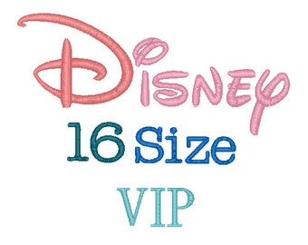 Disney 16 Sizes Disney Embroidery Font VIP Format Embroidery Machine,Monogram Font Instant Download