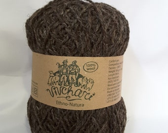 Natural yarn,  wool winter yarn,  organic wool yarn, made in Ukraine, 100g 250m