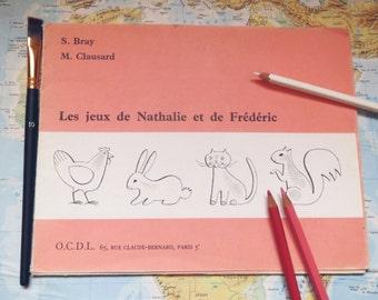 """Games Vintage slips """"games and Nathalie Frédéric"""" 1970"""