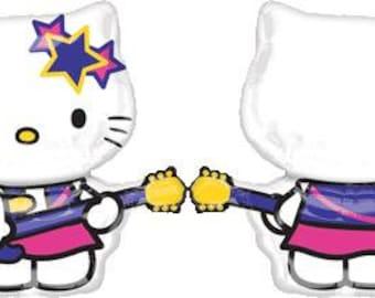 FAST SHIP Jumbo Hello Kitty Rock Star Birthday Balloons, Hello Kitty Party Balloons, Hello Kitty Mylar Balloons, Hello Kitty Party Supplies