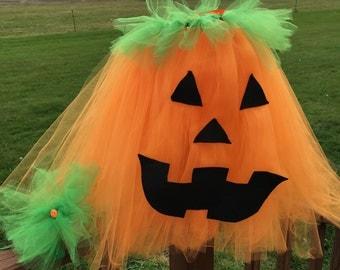 Pumpkin Costume, Girls Pumpkin Costume, Pumpkin Tutu Dress, Girls Halloween Costume, Halloween Costume for Baby, Baby Pumpkin Costume,