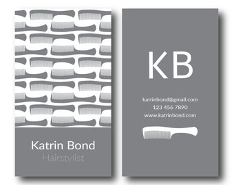 Salon business cards etsy hairstylist business cards hair stylist business cards stylist business cards salon business card reheart Images