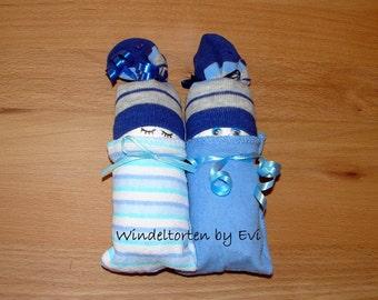 Diaper babies / Windelbabies for boy, baby gift birth