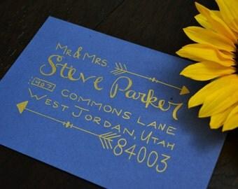 Parker Style Custom Hand Lettering Wedding Calligraphy Addressing