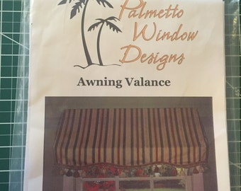 Palmetto Window Designs Awning Valance Sewing Pattern and Instructions