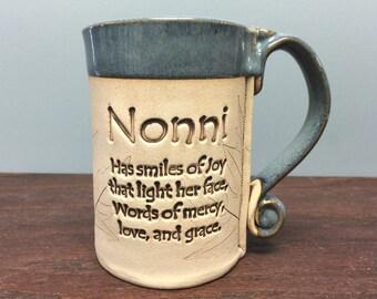 Nonni stoneware mug