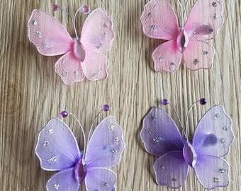 2 Pcs -Butterfly Hair Clip