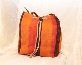 A Colorful Beach Bag made by wool from Peru