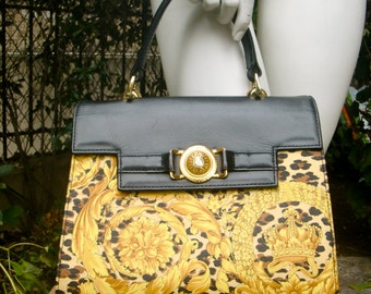 GIANNI VERSACE Medusa Coated Handbag