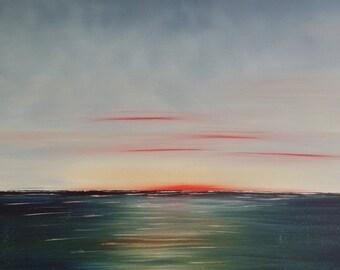 Sunset XL original oil painting