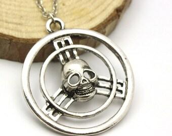 Skull Steering Wheel Necklace Pendant
