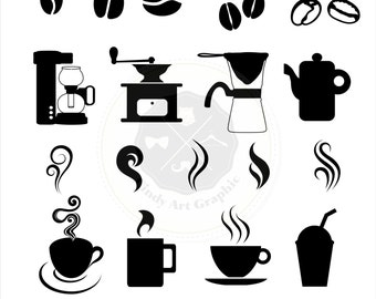 Coffee clipart Etsy