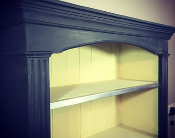 Hand painted Victorian style shelf cupboard