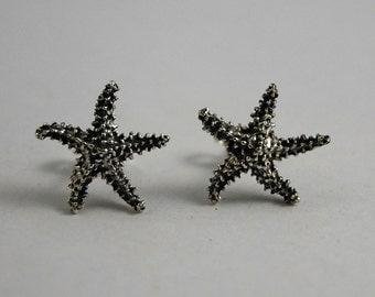S starfish earrings