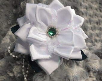 White Lace Flower Headband
