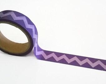 Purple ZigZag Washi Tape