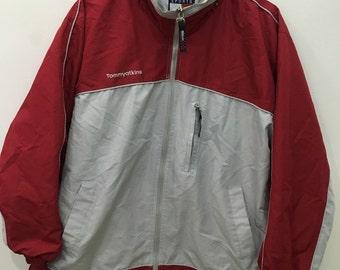 Vintage 90's Tommy Atkins Red Classic Design Skate Sweat Shirt Sweater Varsity Jacket Size XL #C8