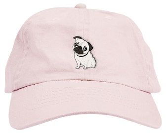 Pug Dad Hat Baseball Cap Low Profile