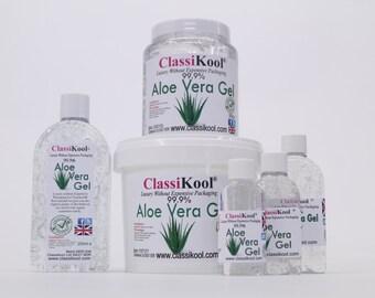 Classikoool 99.9% Pure Aloe Vera Gel for Skin Care, Eczema, Dry Scalp etc. (Free UK Mainland Postage)