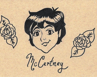 Paul McCartney Flower Crown Artwork