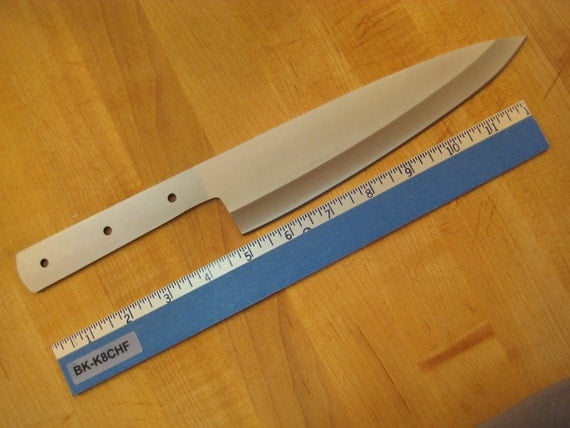 kitchen knife blank 8 chef fully hardened and sharpened