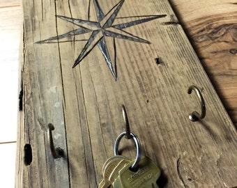 Compass Rose key hook