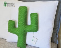 Handmade Cactus Pillow || Decorative Stuffed Cactus Cushion || Hand-stitched Cactus Pillow || Nursery Decor || Kids room Decor || Home Decor