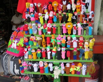 Lot of 100 Finger Puppets HandKnitted Brand New