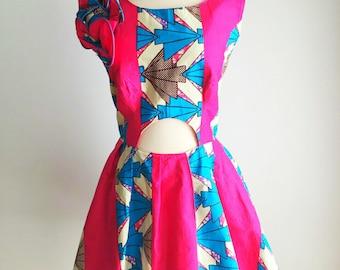 Ayo - african wax print dress