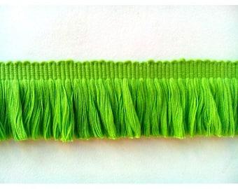 Cotton brush fringes green