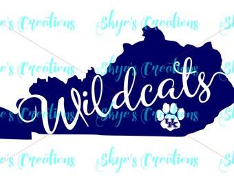 Kentucky wildcats svg, pawprint