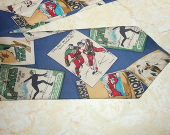 Men's GUY LAROCHE Winter Sports 100% Silk Tie USA