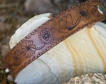 Doodled Leather Bracelet