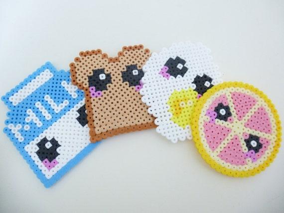 Items Similar To Breakfast Coasters Cute Coasters Geeky