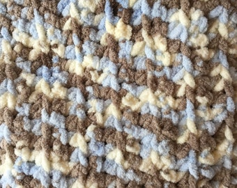 Blue and Brown Baby Blanket