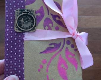 Mini Notebook #5 - Purple Clock