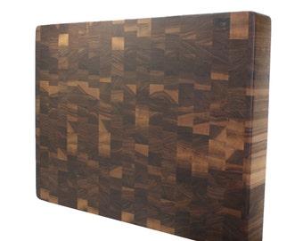 """Kobi Blocks Walnut End Grain Butcher Block Wood Cutting Board 18"""" x 12"""" x 1.5"""""""