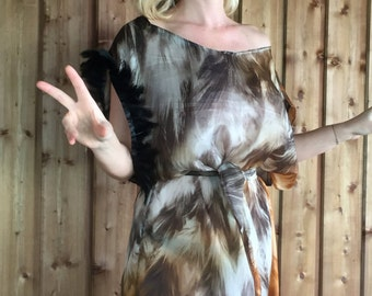 Dress, tunic, silk, hand made