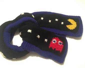 Pacman and Blinky scarf