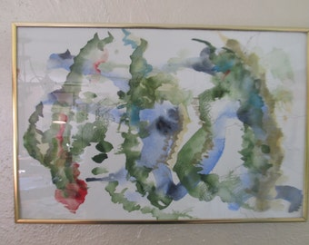 Original watercolor painting, framed