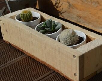 Jardinière PLANTER, cache pot en bois recyclé