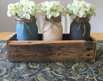 Nuetral Toned Mason Jar Centerpiece