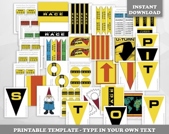 LIMITED TIME! - The Amazing Race party printables -- DIGITAL -- customizable clue cards and invitation, envelopes, signs, and more!