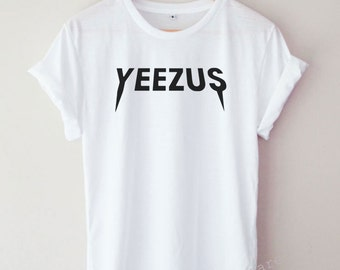 Yeezus Shirt Kanye West Funny Cool Word Text Tumblr Hipster T-shirt Unisex S,M,L,XL Size