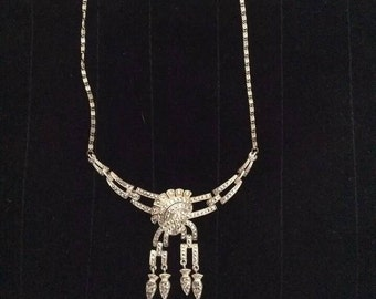 Beautiful Vintage Art Deco Sterling Silver Germany Marcasite Necklace