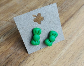 Polymer clay bows earrings